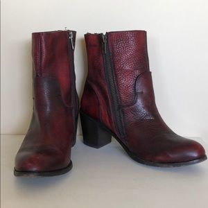 Oxblood Dolce Vita Leather Ankle Boots